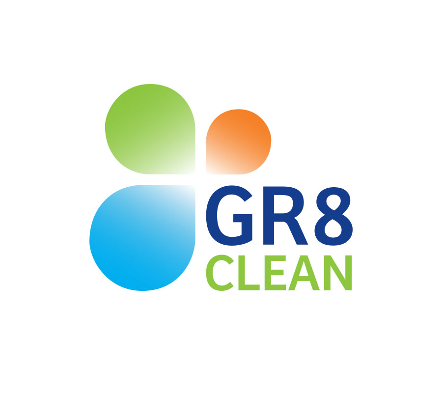 New logo design and development for GR8Clean, Lismore