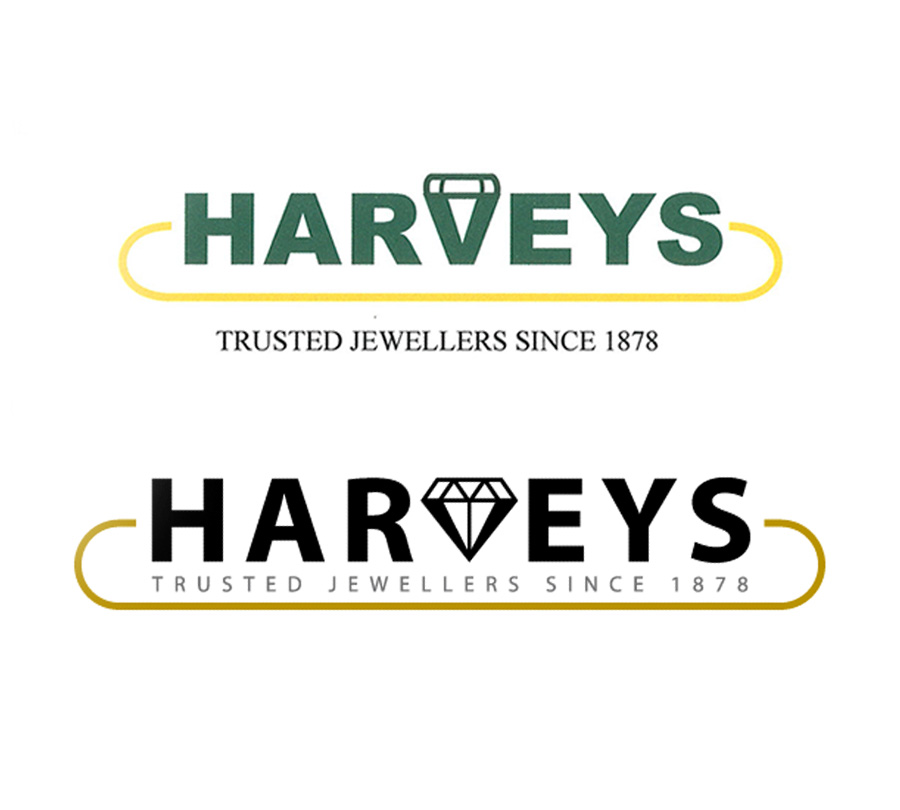 Logo redesign update for Harvey Jewellers, Grafton