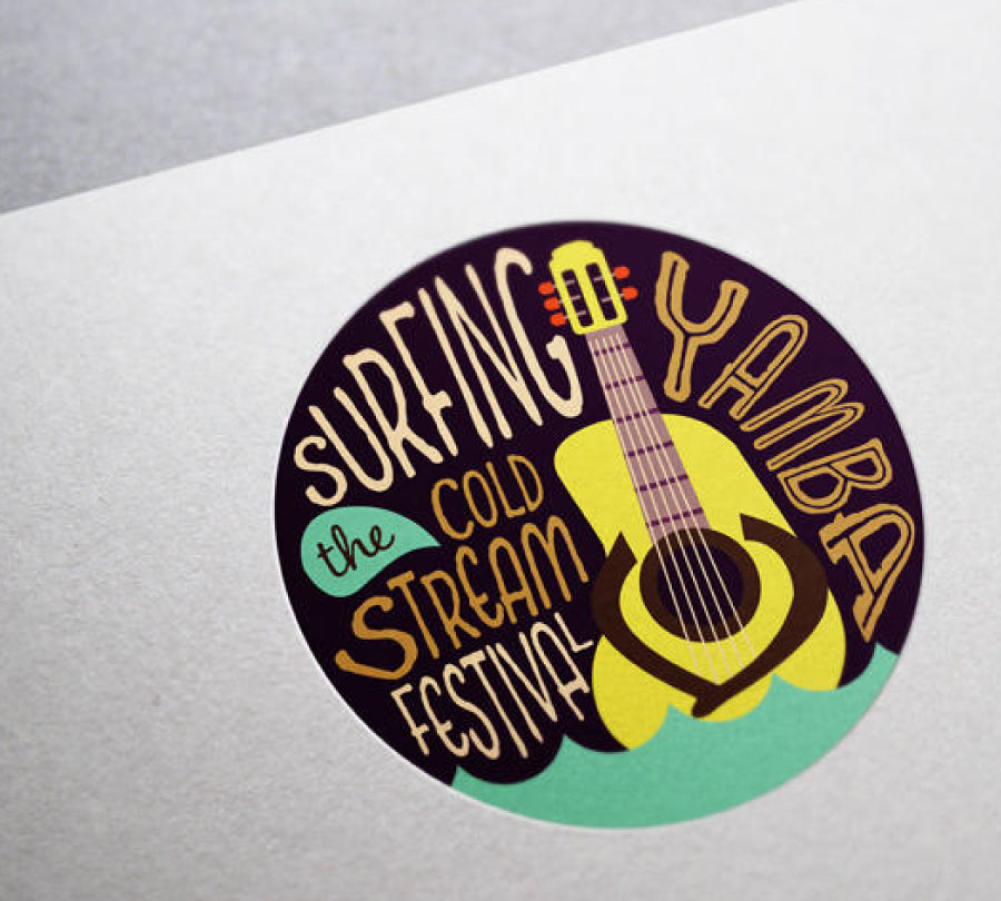 Logo design for Surfing the Coldstream Festival, Yamba