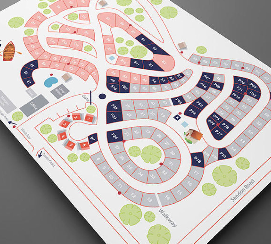 Graphic design for Clarence Valley Council park maps