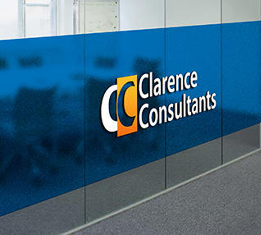 Logo and branding design for Clarence Consultants