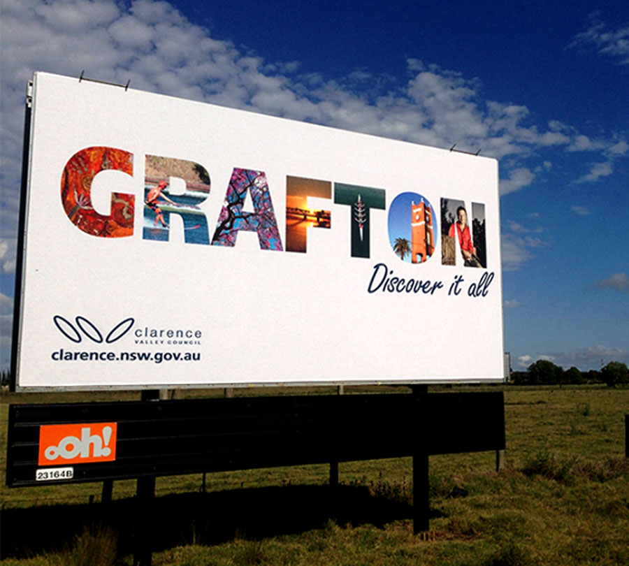 Signage design and print for Grafton NSW